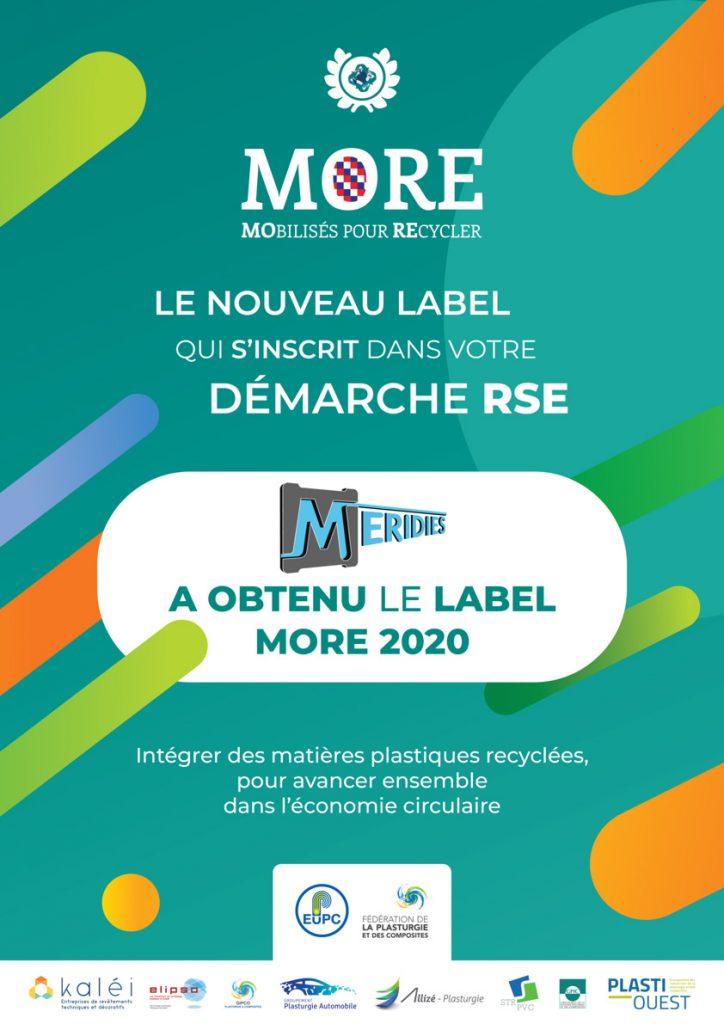Affiche Label More 2020 Environnement et plasturgie