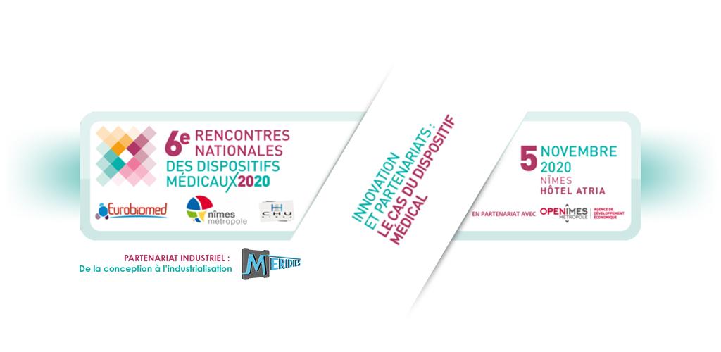 Visuel MERIDIES pour les 6èmes rencontres nationales des dispositifs médicaux 2020.